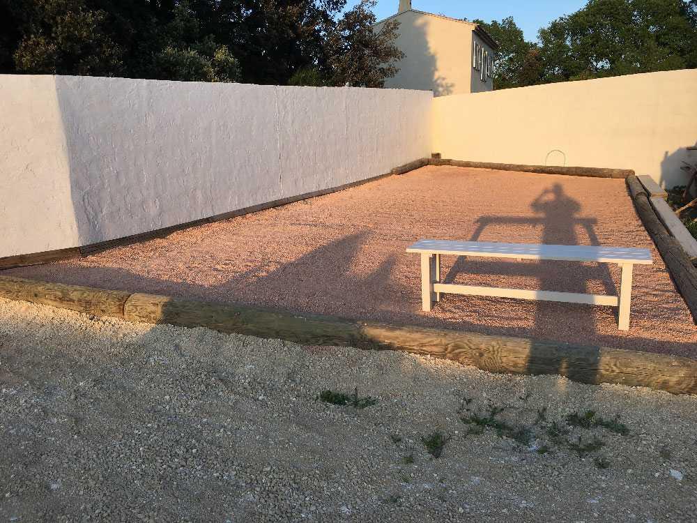 Fabriquer un terrain de boules avec notre sable 0/8