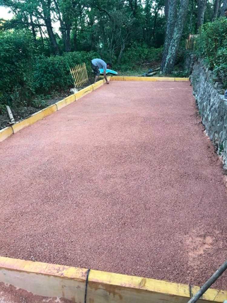 Acheter du sable rose terrain de pétanque