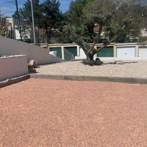 Sable Terrain de pétanque près de Marseille